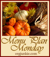 Monday Menu Plan ~ October 17, 2011