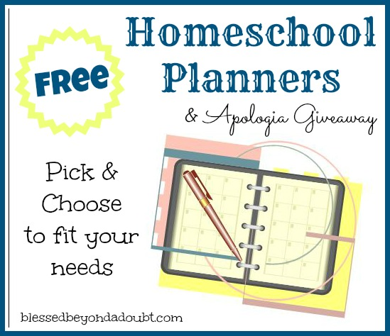 A List of FREE Homeschool planners