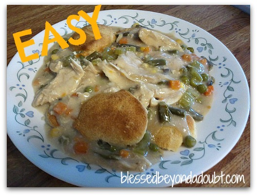 Easy Crock Pot Recipe – Home-style Chicken and Biscuits