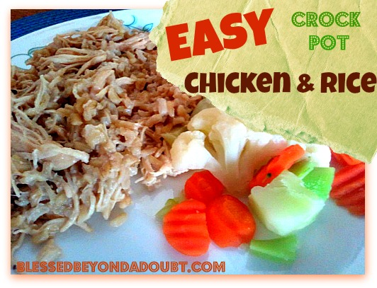 Super Quick and Easy Crock Pot Chicken ans Rice