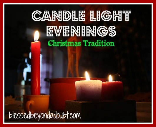 Christmas traditions - candle light