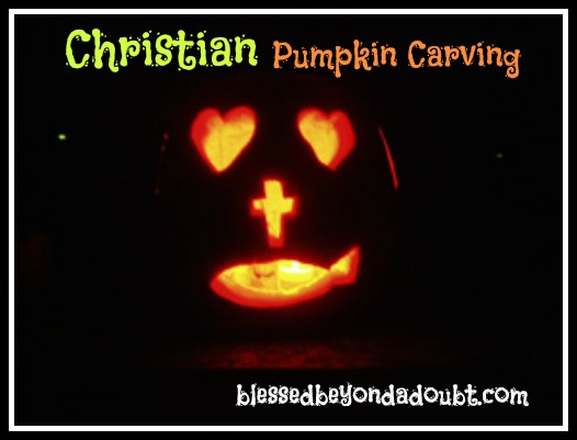 Christian pumpkin carving