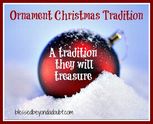 A Christmas tradition - Ornaments