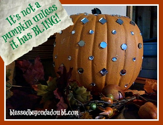 EASY DIY- Decorating Pumpkin Ideas with BLING!
