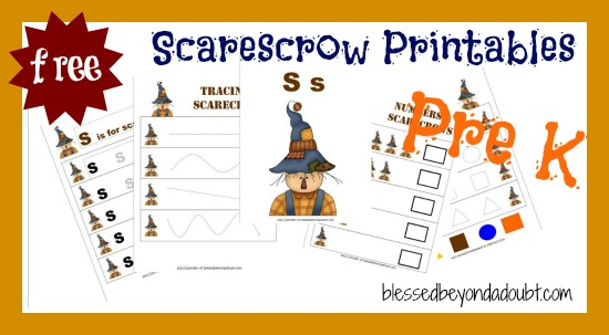 FREE Early Childhood Themes - Scarecrow Set