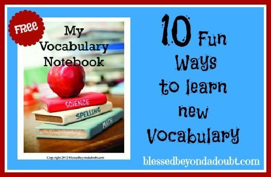 Ways to Teach Vocabulary -vocabulary notebook