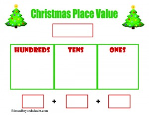 Christmas Place Value Sheet
