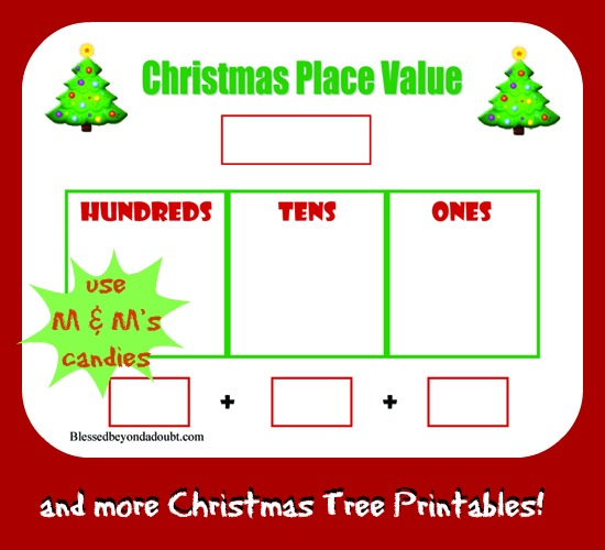 Free Christmas Tree Place Value Worksheet and More!