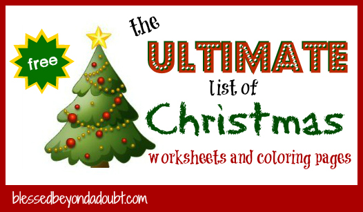 Christmas worksheets and Christmas coloring pages