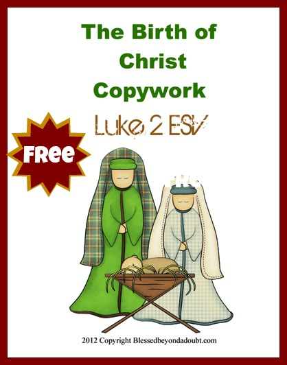FREE The Birth of Christ copywork