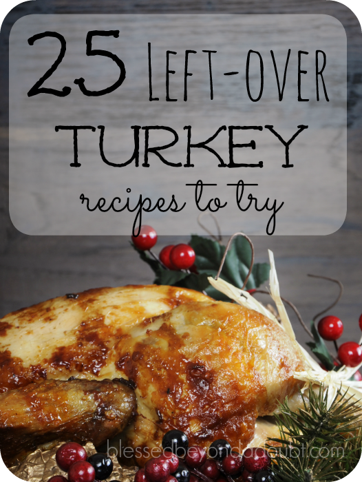 25 wondrful leftover turkey recipes for you to try.