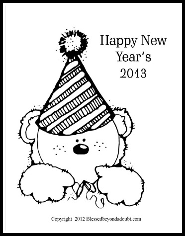 free new year coloring pages blessed beyond a doubt
