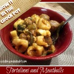 Crock Pot Tortellini and Meatballs