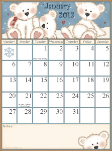 free printable calendar