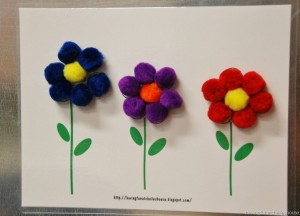 create a flower with pom pom magnets[12]