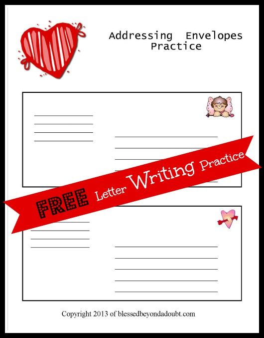Free letter writing templates for children blessed beyond a doubt i created these free letter writing templates for my children to learn the proper way to address an envelope and write a friendly letter spiritdancerdesigns Images