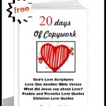 FREE 20 Days of Copywork for School From Home- God's Love Bible Quotes!