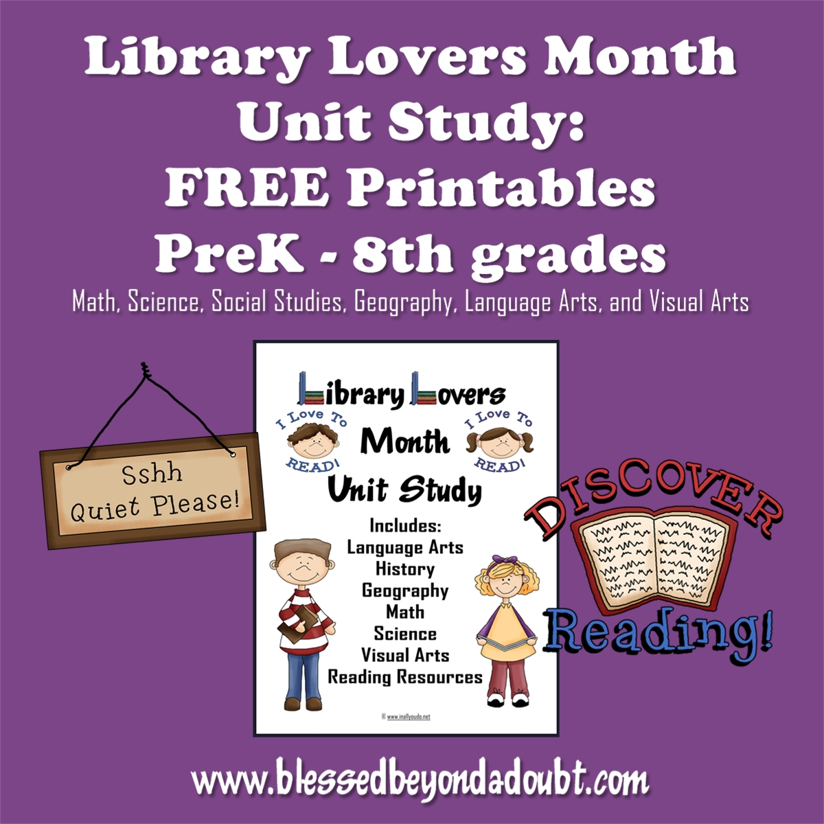 FREE Library Lovers Unit Study