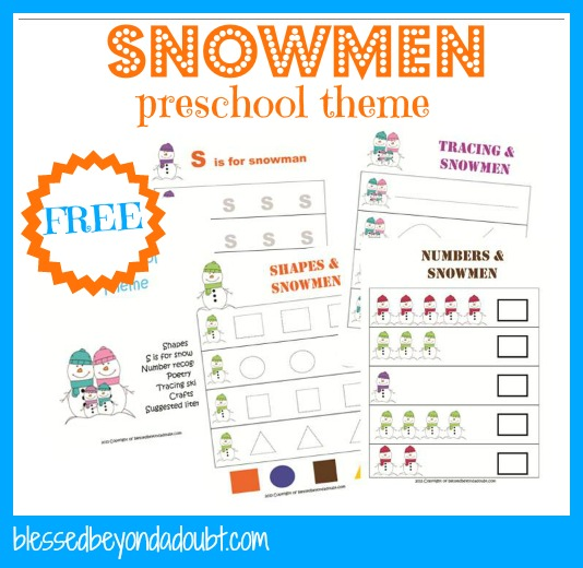 preschooltheme FREE Snowmen Preschool Theme Printables and Ideas!