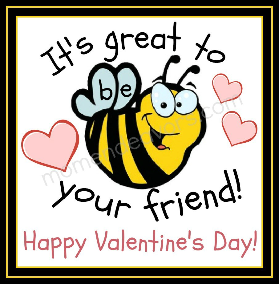 free bee valentine cards printables - Valentines Cards For Friends