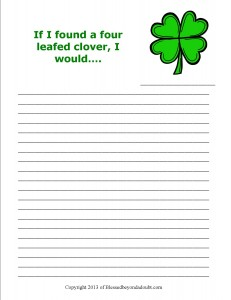 St pats Writing Prompts1