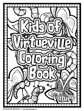 We Choose Virtues Is Offering Their Coloring Book For FREE In Celebration Of Reaching Goal 6000 Facebook Fans