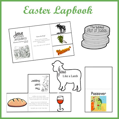free easter lapbook   blessed beyond a doubt