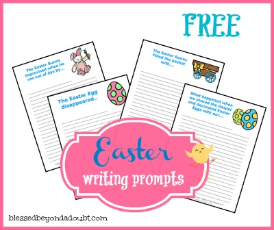 FREE Easter Writing Prompts for kids