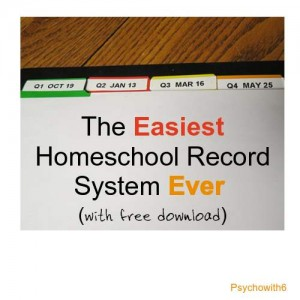 Easiest Homeschool Record System Ever