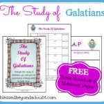 FREE Galatians Bible Notebook Pages