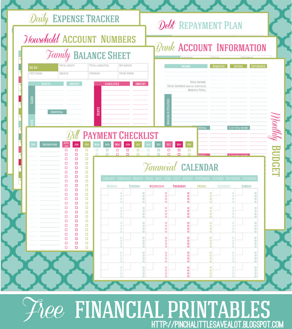 Pinch a Little, Save A Lot is offering her financial planner for FREE!