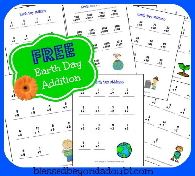 earth day addition printables