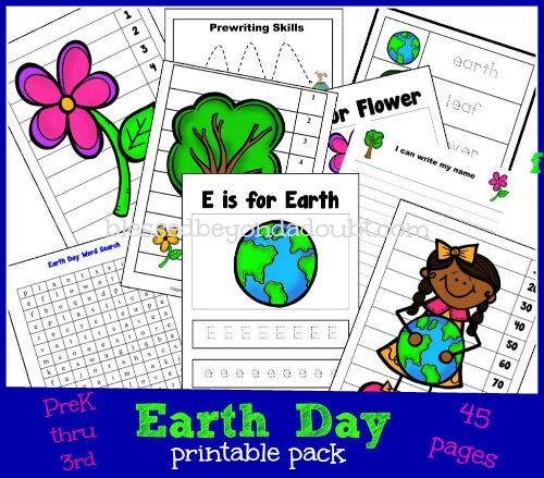 FREE Earth Day Printables Pack – PreK thru 3rd Grade!