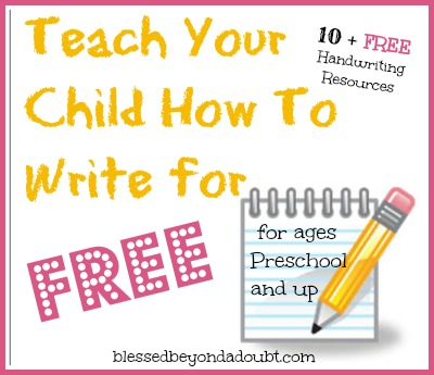 Where to Find FREE Homeschool Handwriting Worksheets! - Blessed ...