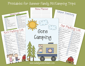 picture about Rv Packing List Printable referred to as No cost Summer time Tenting and Getaway Packing Listing Printables