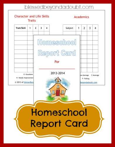 photo regarding Printable Homeschool Report Card referred to as Absolutely free Homeschool Posting Card Type! - Fortunate Over and above A Question