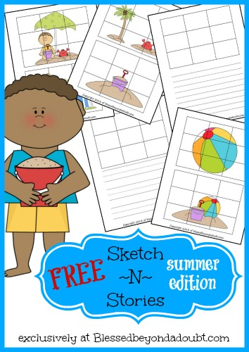 FREE Sketch N Stories Creative Writing Prompts- Summer Edition!