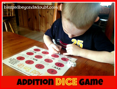FREE addition dice game