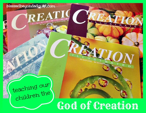 Teaching our Children the God of Creation