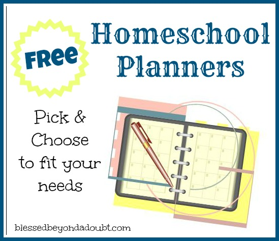 picture relating to Free Printable Homeschool Planner called Cost-free Homeschool Planners