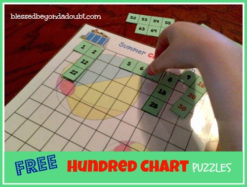 FREE hundred chart puzzles