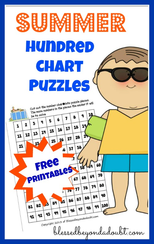 Free Hundred Chart Puzzles Blessed Beyond A Doubt