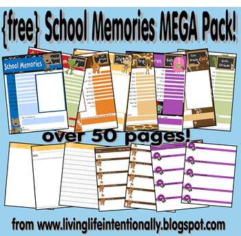 photograph relating to Free Printable Memory Book Pages named Totally free Higher education Reminiscences Printable Packs! - Fortunate Past A Question