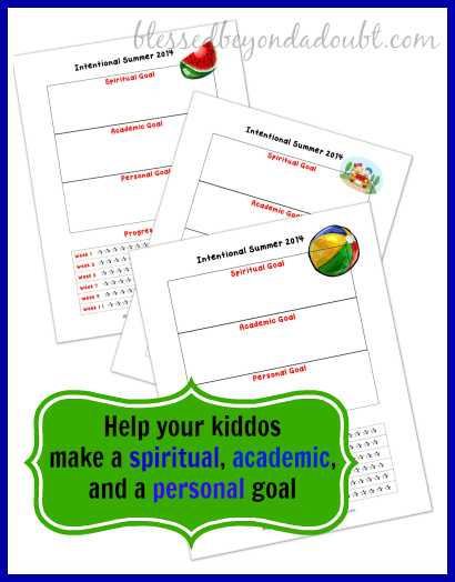 Help your family have an intentional summer 2014 with these FREE printables!