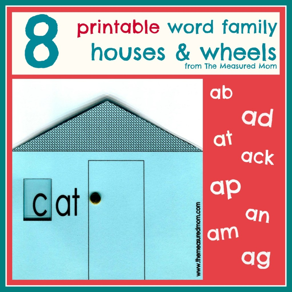It's just a photo of Striking Word Families Printable