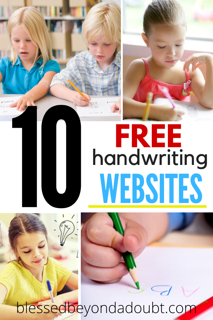 You can totally teach your children handwriting for free. Check out all the free handwriting websites available to you during the school closure. #freehandwritingworksheets #freehandwriting #freehandwritingpracticesheets #schoolclosureactivities #homeschoolprintables #homeschoolprintablesfree #freehandwritingprintables