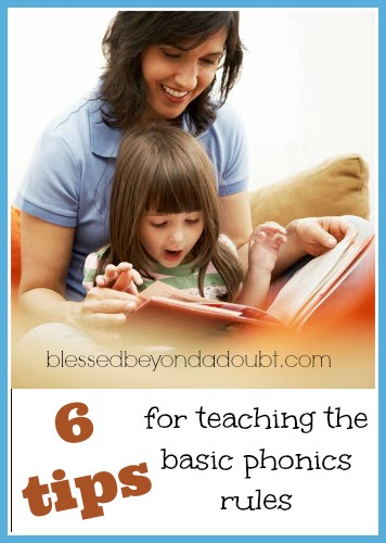 6 tips for teaching the basic phonics rules