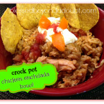 Crock Pot chicken enchilada bowl