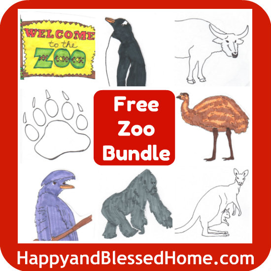 FREE Zoo Worksheets Printable Bundle - Preschool! - Blessed Beyond A Doubt