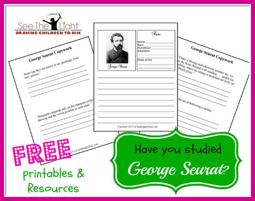 georges seurat pointillism and free resources
